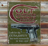Colt Arms Old Wooden Sign 11 x 11 x 1
