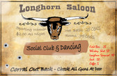 Longhorn  Saloon Old Wooden Sign 11 x 17 x 1