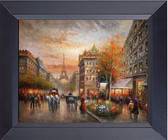 Eiffel Tower An Evening In Paris At The Cafe Street Canvas