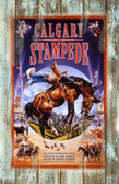 Calgary Stampede Rodeo 1999 Old Wood Sign 11 x 11 X 1