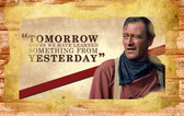 john wayne hopes we havew learned from yesterday famous quote  11 x 17 Old Wood Sign  11 x 11 X 1