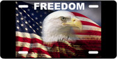 American Flag Freedom Motivational License Plate