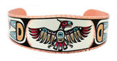 Aztec Thunderbird Native Art Copper Bracelet