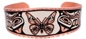 Butterfly Aztec Designed Copper Bracelet