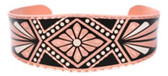 Diamond Aztec Designed Copper Bracelet