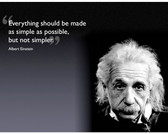 Famous Quote Poster  Albert Einstein Everything Should Be As Simple As Possible