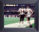 Chicago Bears Walter Payton Jim Mcmahon, Watching From The Sideline In Super Bowl Xx Chicago Bears Champs Framed Art Photograph Print