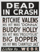 Buddy Holly Dead   12 X 18 POSTERS