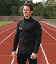 Mens Long Sleeve Turtle Neck Running Shirt