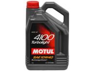 Aceite Motul 4100 Turbolight 10W40 4 LT (Diesel/Bencina)