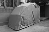 MODELO TOURER: Carpa BIKESHIELD MODELO TOURER  - 100% Waterproof / Lock System / Galvanized Steel Pipes / Ventilation Windows / Color Gris / 345 x 134 x 94 cm / 33 KG Marca: BikeShield