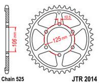 Catalina JT Sprockets para Triumph 800XC ( JTR2014.50)