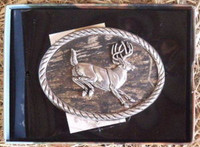 Nocona Mossy Oak/Deer Belt Buckle