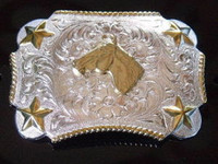 Nocona Kid's Horse Head Western Belt Buckle
