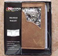 Nocona Leather Mossy Oak/Bass Tri-Fold Wallet