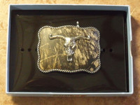 Youth Nocona Mossy Oak /Longhorn Belt Buckle