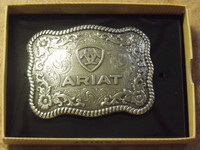 Rectangular Ariat Logo Western Belt Buckle