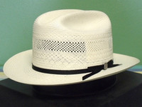e2e00fdfdcd STETSON 10X SHANTUNG STRAW VENTED OPEN ROAD WESTERN HAT  120.00  78.95