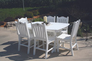 "DINING HEIGHT 56"" TABLE AND 6 CHAIRS"
