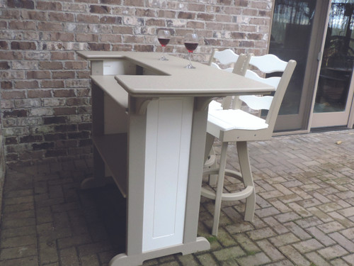 Bar pictured in white and sandstone