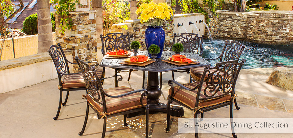 St. Augustine Cast Aluminum Outdoor Dining Collection