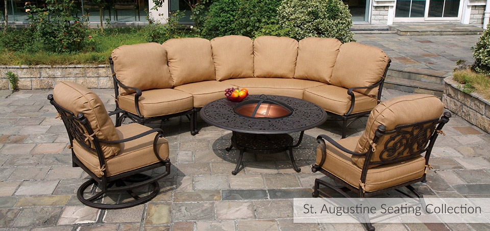 ... St. Augustine Cast Aluminum Outdoor Dining Collection