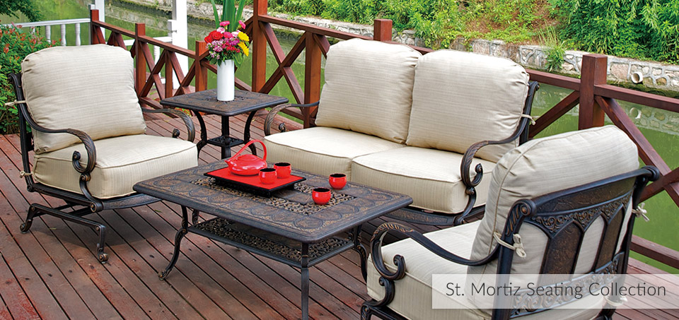 St. Mortiz Cast Aluminum Outdoor Dining Collection
