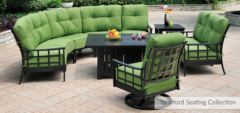 Superior Stratford Cast Aluminum Outdooor Dining Collection ...