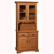 Amish Handcrafted Country 2 Door Hutch 54