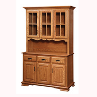 Amish Handcrafted Country 3 Door Hutch 60