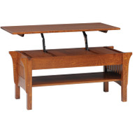 Amish Handcrafted 1800 Mission Lift top Coffee Table