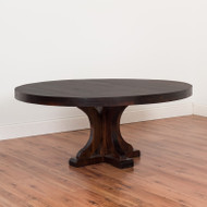 """Amish Handcrafted 72"""" Round Rustic Carlisle Table"""