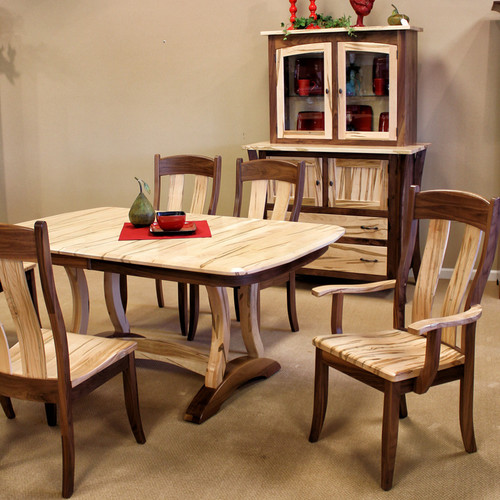 Amish Handcrafted Wormy Maple Walnut Dining Collection