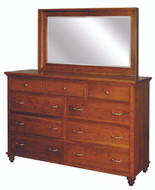 Amish Handcrafted Duchess  #911 Tall Dresser With #950 Mirror