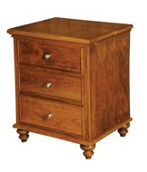 Amish Handcrafted Duchess #921 Three Drawer Nightstand