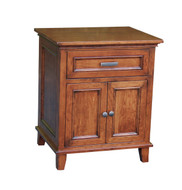 Amish Handcrafted #620 Brooklyn 1 Drawer, 2 Door Nightstand
