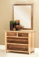 Amish Handcrafted #7 Cornwell Small Dresser With #13A Mirror