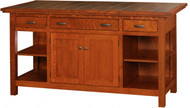 "IS-804 2 Doors, 3 Drawers, 1 Adjustable Shelf Width 63-1/4 Depth 24.5"" Height 34.5"""