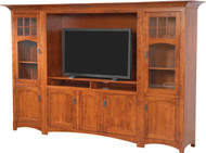 Amish Handcrafted Hamilton Style Entertainment Center