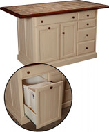"IS-74-JC   W/ Wastebasket 2 Doors, 5 Drawers, 1 Adjustable shelf Width 47.25"" Depth 24"" Height 34.5"""