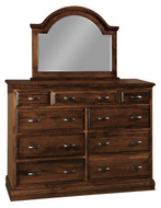 Amish Handcrafted Adrianna Dresser and Mirror
