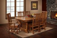 Amish Handcrafted Hacienda Dining Set