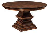 Amish Handcrafted Bradford Single Pedestal Dining Table
