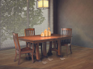 Amish Handcrafted Christy 5 To 20 Leaf Extension Table