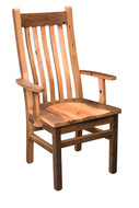 Amish Handcrafted Barnwood Mission Arm Chair