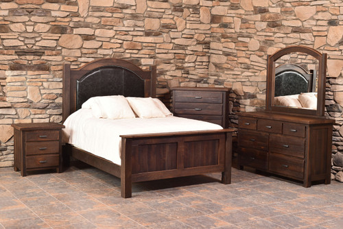 Amish Handcrafted Barnwood Quincy Bedroom Collection