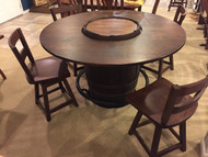 "56"" Whiskey Barrel Counter Set ( Display Model $1625.00)"