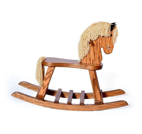 Amish handcrafted child's horse rocker (oak)