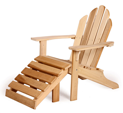 Poplar Adirondack Chair With Footrest Southern Outdoor