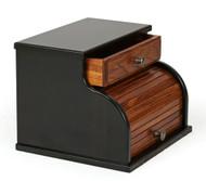 Bread Box In Two Tone Brown Maple